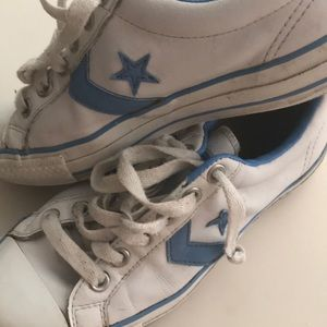 leather converse women's Sz 8